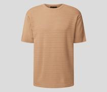 T-Shirt mit Strickmuster