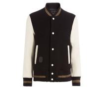 College-Jacke aus Schurwolle