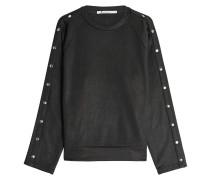 Sweatshirt mit Baumwolle und Knopfleisten