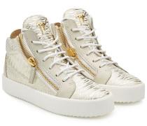 Geprägte High Top Sneakers aus Leder