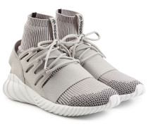 Sneakers Tubular Doom Primeknit aus Textil und Leder