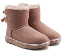 Boots Mini Bailey Bow aus Veloursleder mit Schaffell