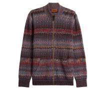 Strick-Cardigan aus Wolle mit Zickzack-Muster