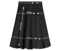 Flared-Skirt aus Schurwolle mit Print