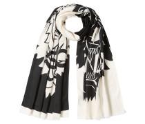 Bedruckter Schal mit Baumwolle und Seide