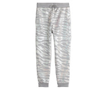 Sweatpants aus Baumwolle mit Animal-Print