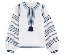 Bestickte Tunika-Bluse aus Baumwolle