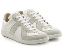 Sneakers Replica aus Veloursleder und Leder