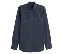 Baumwollhemd mit Webmuster