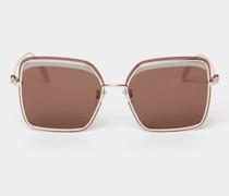 Sonnenbrille in eckiger Form