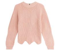 Pullover mit Wellensaum