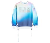 Bedrucktes Sweatshirt aus Baumwolle mit Farbverlauf