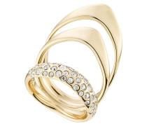 Dreifacher Ring mit Kristallen