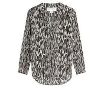Bluse mit Kontrast-Print