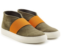 Mid Top Sneakers aus Veloursleder