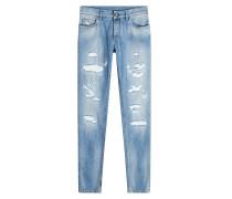 Straight Leg Jeans im Distressed-Look