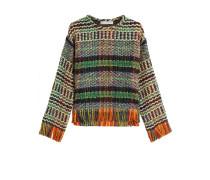 Pullover aus Wolle mit Fransen