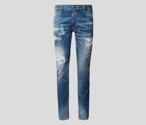 Jeans mit Brand-Detail