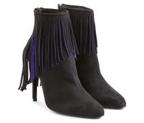ralph lauren damen ankle boots sade aus veloursleder mit. Black Bedroom Furniture Sets. Home Design Ideas