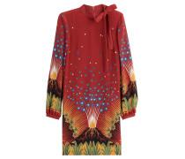 Bedrucktes Kleid Volcano aus Seide