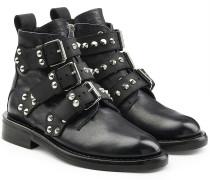 Ankle Boots Laureen aus Leder mit Nieten und Schnallen