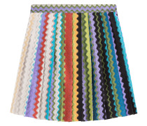 Flared-Skirt aus Zickzack-Strick