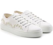 Sneakers aus Baumwolle mit Perlen-Décor