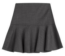 Flared-Skirt aus Schurwolle mit Hahnentrittmuster