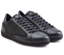 Leder-Sneakers mit Wolle