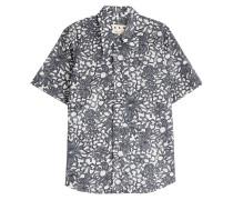 Kurzarm-Hemd aus Baumwolle mit Print