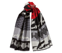 Gemusterter Schal aus Wolle und Seide