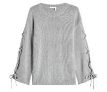 Pullover mit Wolle, Kaschmir und Schnürungen
