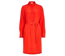 Kleid Rizzo aus Seiden-Crêpe mit Plissees