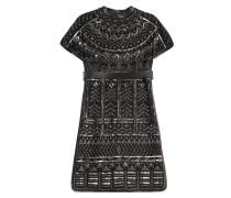 Besticktes Minikleid aus Wolle und Seide