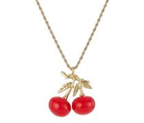 Halskette mit Kirschen-Anhänger