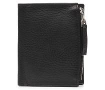 Leder-Portemonnaie mit Zipperfach