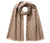Bedruckter Woll-Seiden-Schal