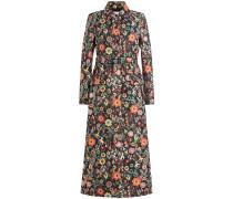 Mantel Capotto mit floralem Print