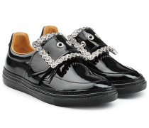 Sneakers aus Lackleder mit Décor