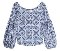 Bedruckte Off-Shoulder-Bluse mit Baumwolle