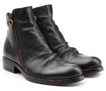 Ankle Boots aus Leder mit Zipper