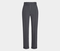 Gepunktete Cropped Pants
