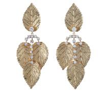 Ohrringe in Blätteroptik mit Ziersteinen