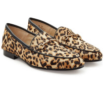 Loafers aus bedrucktem Kuhfell