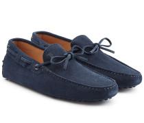 Loafers aus Veloursleder mit Schleife