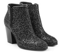 Ankle Boots mit Glitter-Finish