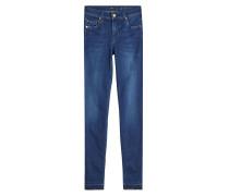 Skinny Jeans mit gefransten Säumen