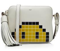 Schultertasche Pixel Smiley aus Leder