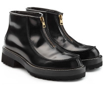 Leder-Boots mit Zipper
