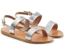 Sandalen Clio aus Leder mit Metallic Finish